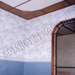 Арка и подвесной потолок на кухне