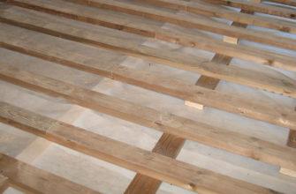 Пол по деревянным балкам