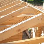 Стропила крыши бани
