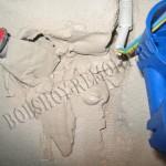 Установка подрозетника в бетонную стену