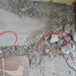 Демонтаж маяков стяжки