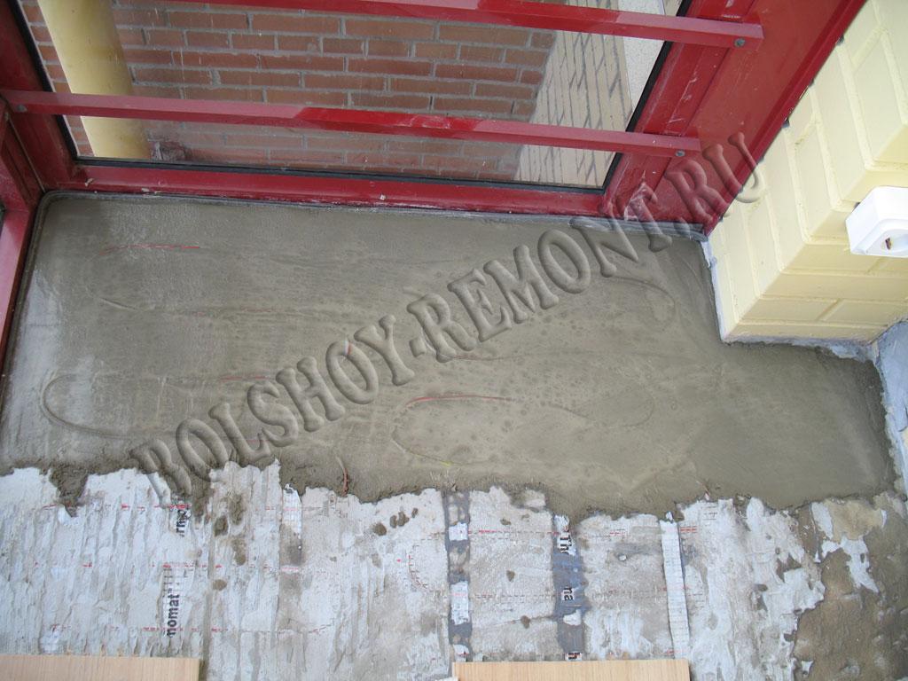 Устройство цементно-песчаной стяжки.
