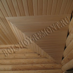 Монтаж вагонки на потолок в бане