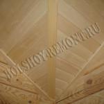 Зашивка потолка вагонкой
