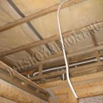 Каркас потолка в предбаннике