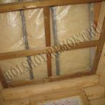 Деревянный каркас подвесного потолка