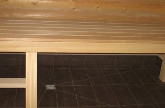 Внутренняя отделка бревенчатой бани