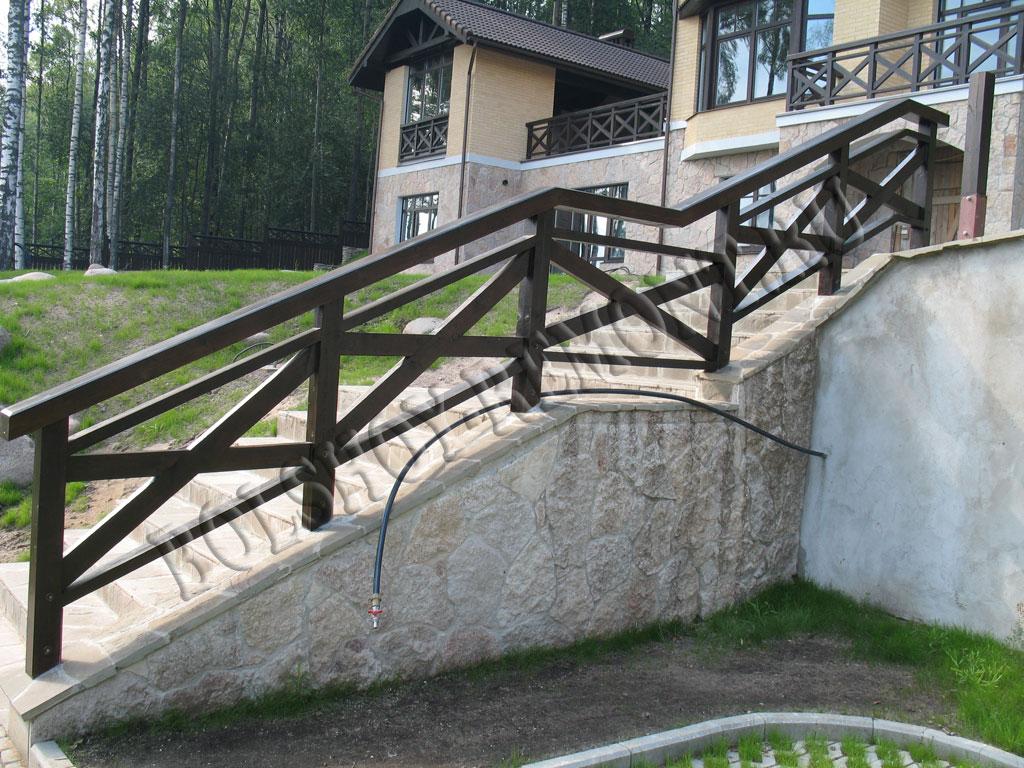 Перила для лестницы деревянные своими руками