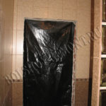 Керамическая плитка на стенах душевой