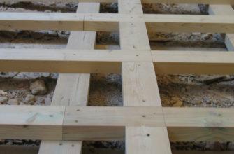 Деревянные лаги по балкам перекрытия