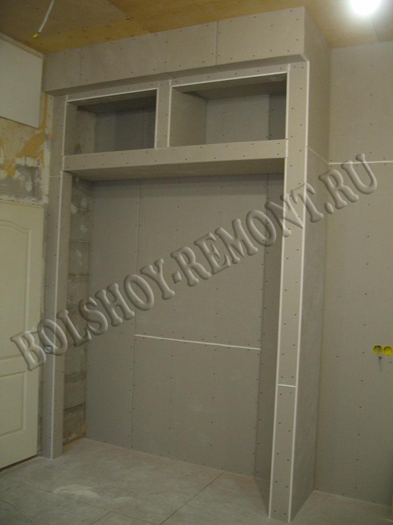 Встроенный шкаф-купе из гипсокартона своими руками 22