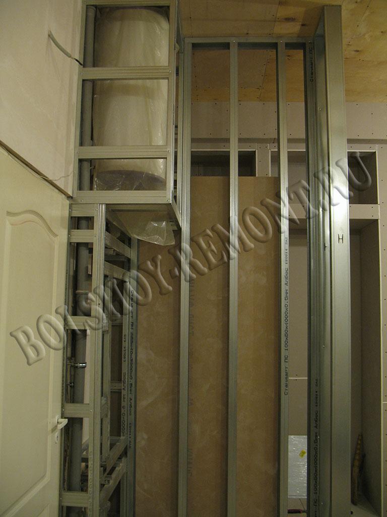 Встроенный шкаф-купе из гипсокартона своими руками 77